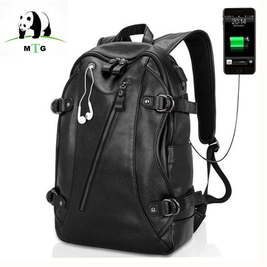 Waterproof 15.6 Inch Laptop Bag Man USB Design Backpack Bag Bags Black Backpack men School