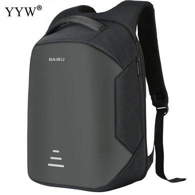 Women Backpack Men Anti Theft Bag With USB Charging Waterproof Black Backpack Breathable