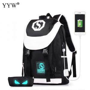 High Quality Men'S Backpacks With USB Interface Unisex School Bags