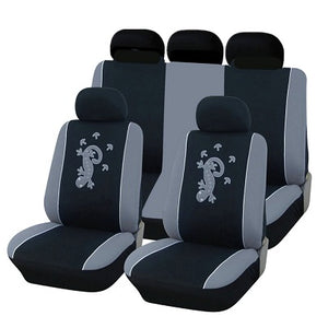 1 Set Universal Car Seat Cover Salamander Pattern Car Polyester Fabric Embroidery
