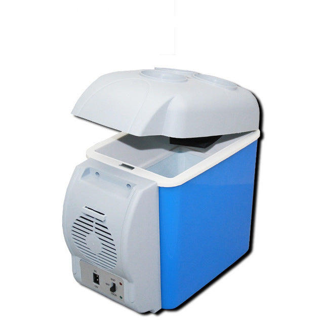 mini 12v Car refrigerator 7.5 liters family car with a hot  cold boxes mini fridge small refrigerator