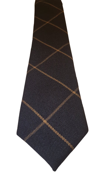 Eterno Skinny Checked Lines Cotton Tie