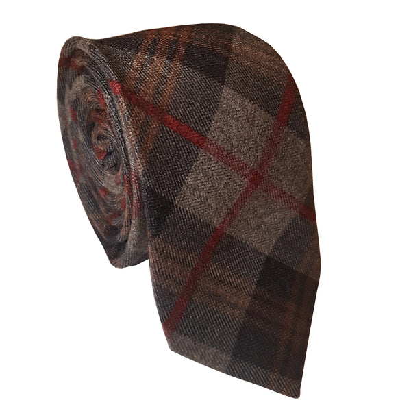 Eterno Skinny Diagonal Checked Cotton Tie