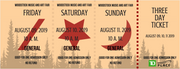 Woodstock North Music Festival Ticket- Ottawa ON August 2019