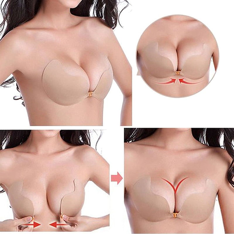 Nude Backless Sticky Strapless Bra