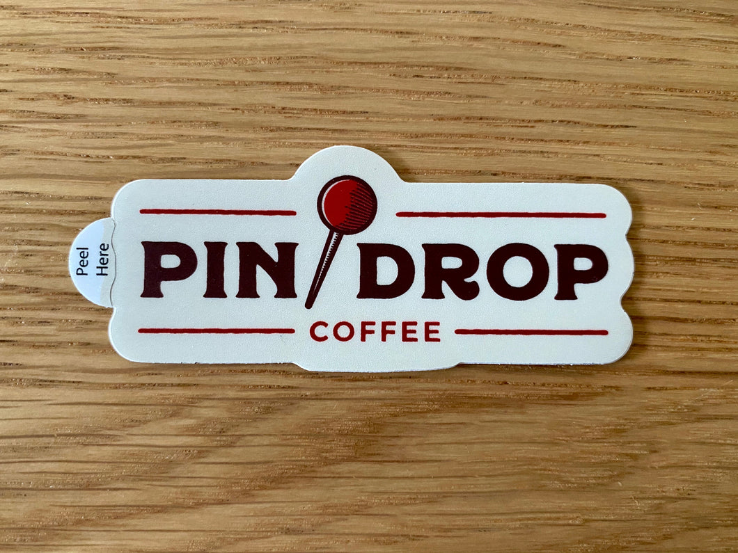 Pin Drop Coffee Sticker