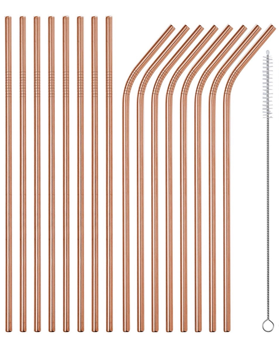 Bronze Stainless Steel Reusable Straw