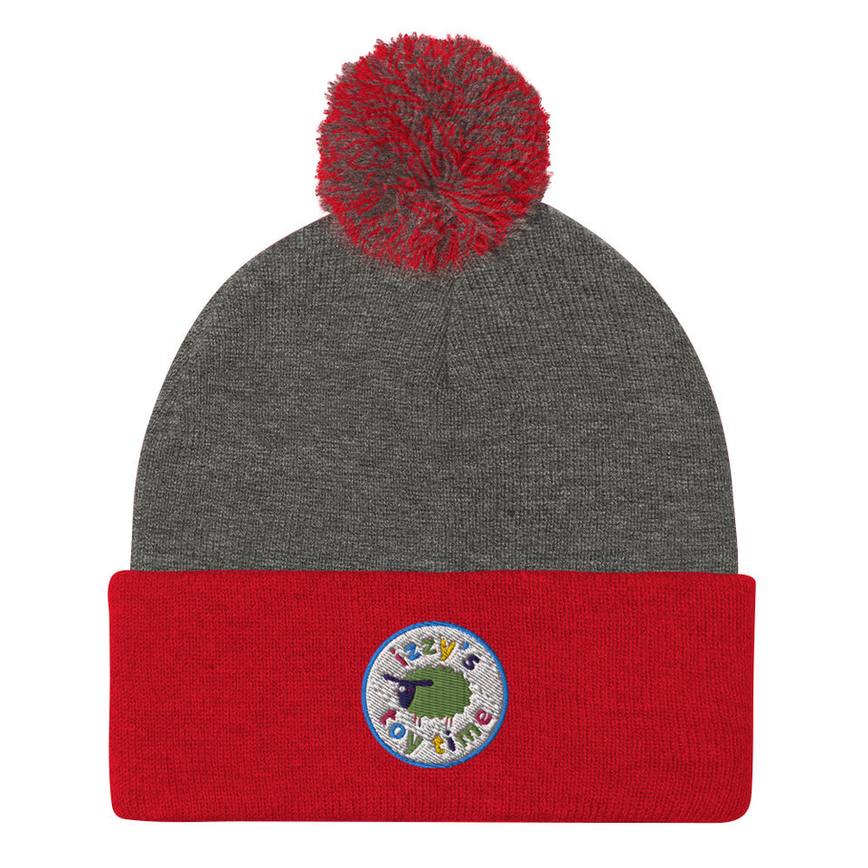 Pom-Pom Beanie - Izzy's Toy Time Embroidered