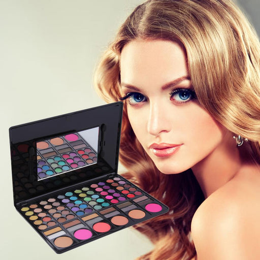 Professional 78 Color Eye Shadow Palette Cheek Blusher Lip Gloss Makeup Palette Eyeshadow Pallete Hot Sale Makeup Sets Tool