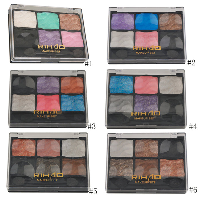 New 6 Color Types Professional Comestic Woman Makeup Nude Eyeshadow Palette With Blush Palette Long Lasting Make Up Look
