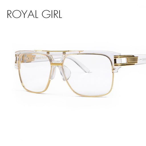 ROYA GIRL Luxury Women Brand Glasses Frame Vintage Oversize Clear Lens Glasses Men Eyeglasses Frames Acetate Spectacles ss098
