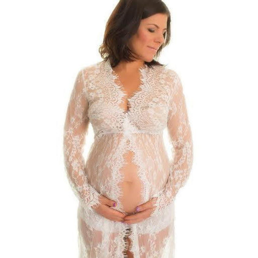 Clothes for Pregnant Women Lace Fashion Long Sleeve Sexy Dress women Pregnant clothes
