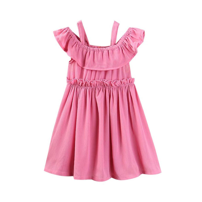 mother daughter dresses Family Match Women Off Shoulder Ruched Dress Beach Sundress Clothes Girls Outfits drop shipping