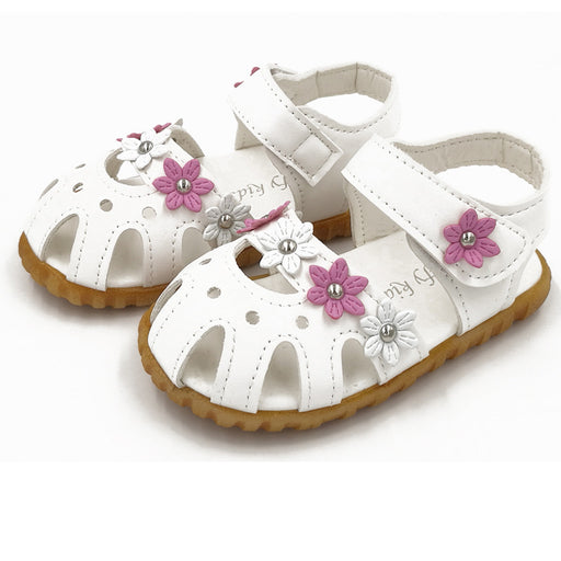 Girls shoes sandals summer Children Fashion Causal Flat Flower Soft Bottom Girls Sandal Shoes Children's shoes sandals kids
