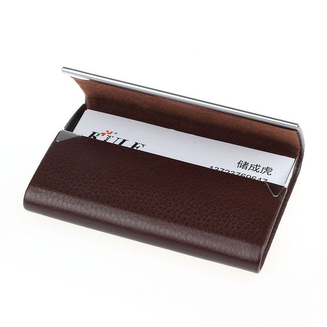 Leather Business Card Holder Case