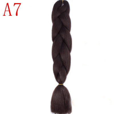 MISS WIG Ombre Kanekalon Jumbo Braids Synthetic Braiding Hair 60Color Available 100g 24Inch Hair Extension Pink  Blue Green 1pce