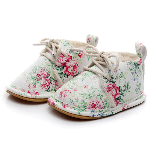Beautiful Baby Sneakers First Walkers Shoes Baby Girls Boys Floral Crib Shoes Soft Sole Anti-slip Sneakers Sapatos Menina