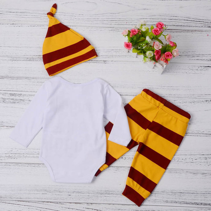 3PCS Set Newborn Baby Boys Girls Clothes Set Tops Rompers Cotton Pants Leggings Hat Outfits Clothing Baby Boy 3-18M