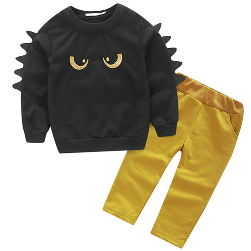 Kids Clothing Sets Long Sleeve T-Shirt + Pants Autumn Spring Children's Sports Suit Cartoon Printing Baby Boys Clothes