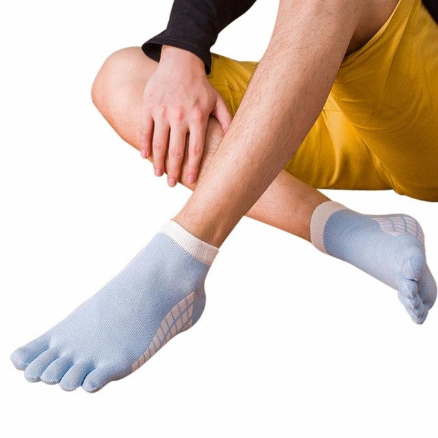 2017 New Mens Toe Yoga  Socks Cotton Five Fingers Sport Socks Running Socks with Toes Ankle Socks 5 colors #EW