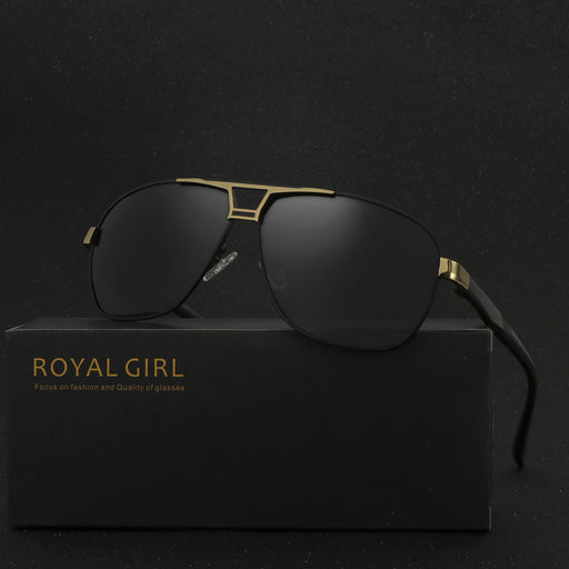 ROYAL GIRL High Quality Men Sunglasses Classic Brand Driving Sunglasses 100% Polarized Sunglasses oculos de sol masculino SS509