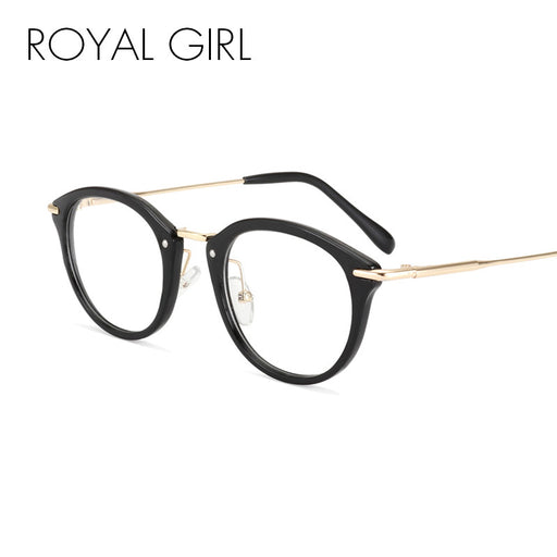 ROYAL GIRL Classical Retro Women Eyeglasses Frames Optical Glasses acetate Frame Clear lens Glasses Vintage Spectacles ss718