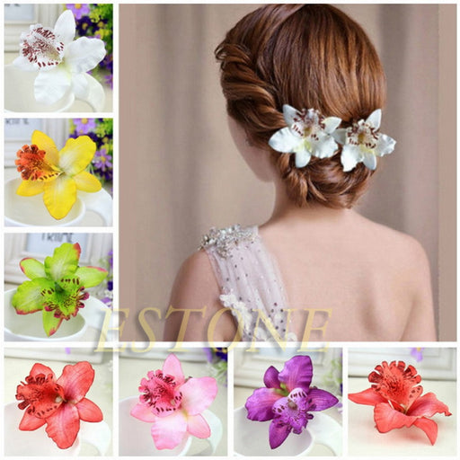 New Bohemia Style Orchid Peony Flowers Hair Clips Hairpins for Women Hair Accessories