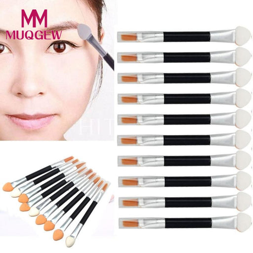 10Pcs Makeup Double-end Eye Shadow Eyeliner Brush  Sponge Lip Brush Set Disposable Hot Selling