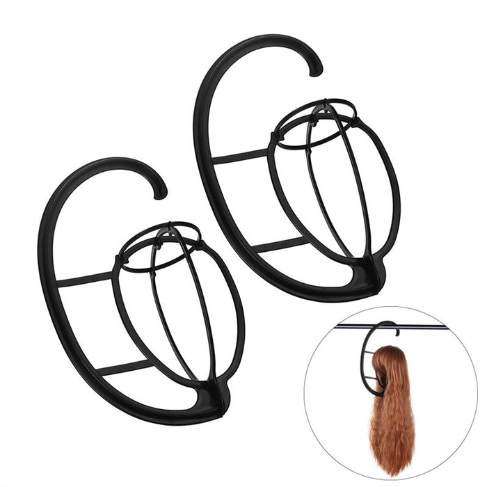2 Pack Wig Hanger Portable Hanging Wig Stand for All Wigs and Hats Collapsible Wig Dryer Durable Wig Stand Tool Holder Hat and Cap Holder