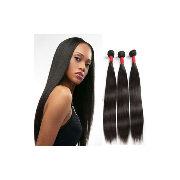 Brazilian Straight Hair Virgin Unprocessed Human Hair Wefts Hair Extensions (8 Inch)