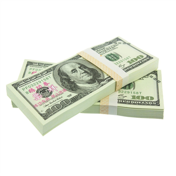 100PCS $100 Dollar Copy Money Fake Money Props Money for Movie TV Videos