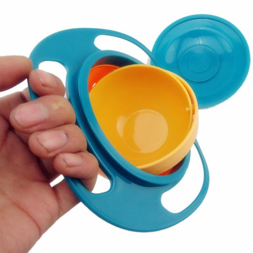 1 PC Baby Kid Boy Girl Gyro Feeding Toy Bowl Dishes Spill-Proof Universal 360 Rotate Technology Funny Gifts