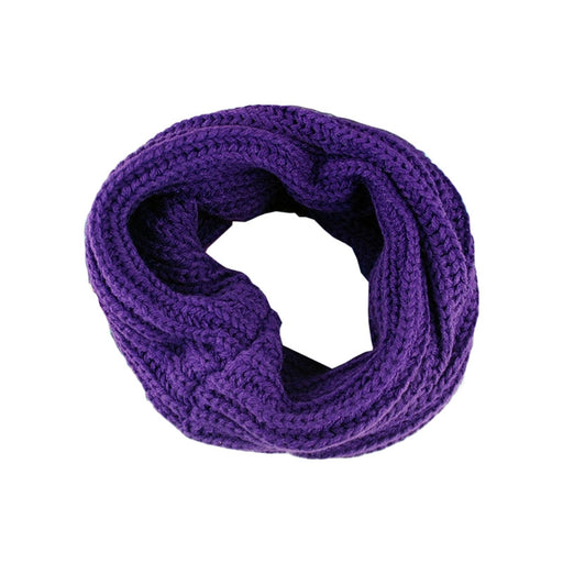 Women Winter Warm Infinity One Circle Knit Wool Blend Cowl Loop Scarf Shawl Thick Neckerchief