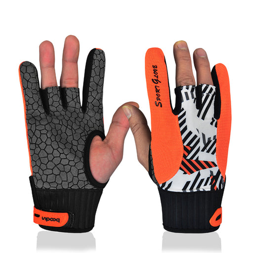 Real Professional Anti-skid Bowling Bloves Comfortable Accessories Semi-finger Instruments Sports Gloves Mittens For