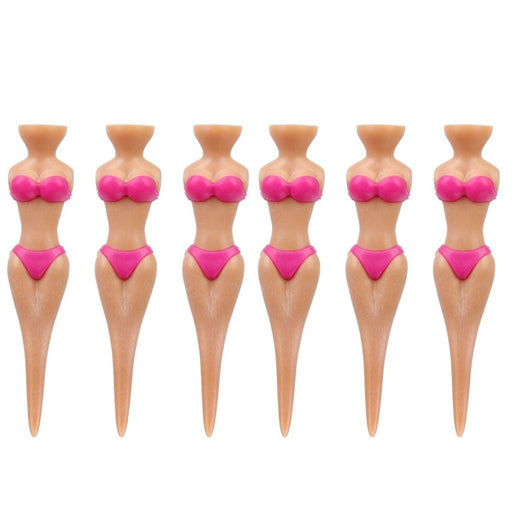 6pcs Novelty Bikini Lady Girl Golf Tees Divot Tools