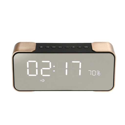 Radio Alarm Clock Bluetooth Speaker with LED Dimmable Screen Stereo Sound Bass Speaker TF Card Support Compatible with Smart Device