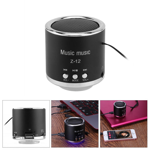 Fornorm  Cylinder Portable Speaker FM Radio Z12 USB Micro SD TF Card Mp3 Mini Computer Portable Speaker