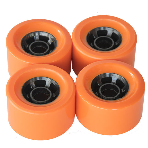 New Orange Color Wheels 1/2/3/4pcs Skateboard Bearings Smooth Riding Durable Longboard Wheels Professional Skate Board