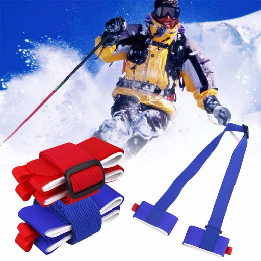 Fofar Ski Belt Skiing Skiboard Snowboard Binding Protection Tie Skiing Snowboard Bag belt Carrier Hand Handle fastener Straps