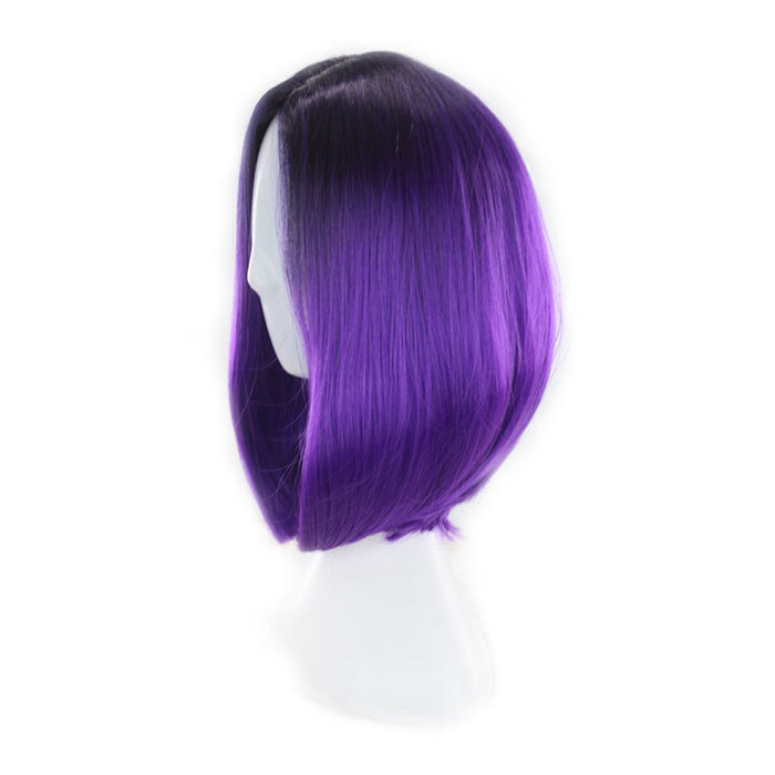 Womens Bob Wig Gradient Color Cosplay Synthetic Hair Wig Short Straight Wigs Lace High Temperature Bob Wig