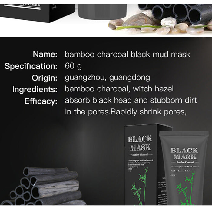 Black Mask Purifying Peel-off Mask with Activated Bamboo Charcoal