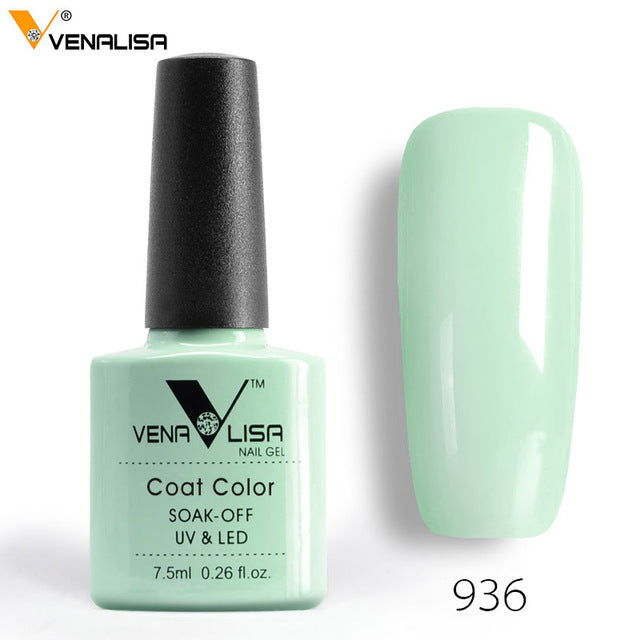 2018 New Free Shipping Nail Art Design Manicure Venalisa 60Color 7.5Ml Soak Off Enamel Gel Polish LED UV Gel Nail Polish Lacquer