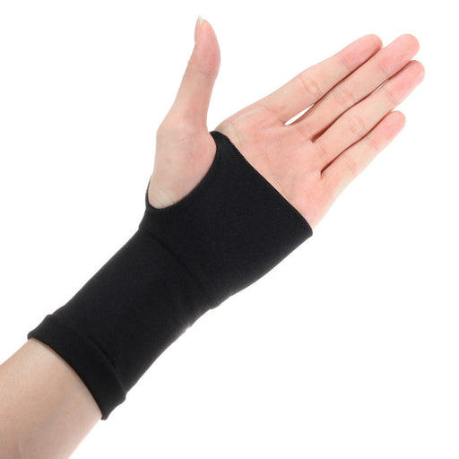 2Pcs Black Carpal Tunnel Thumb Hand Wrist Brace Support Arthritis Compression Bandage