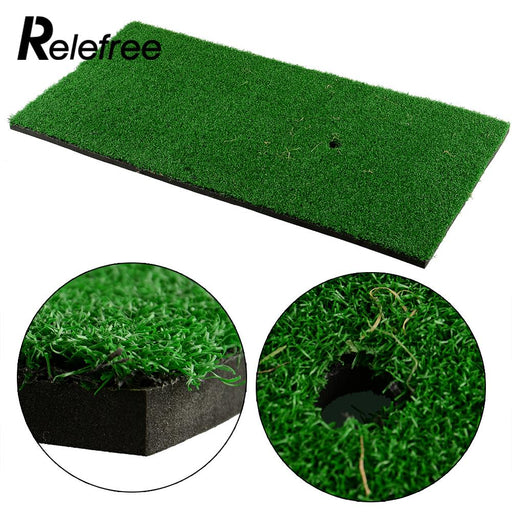 "Relefree  60x30cm/12""x24""Backyard Golf Mat Residential Training Hitting Pad Practice Rubber Tee Holder Eco-friendly Indoor Mat"