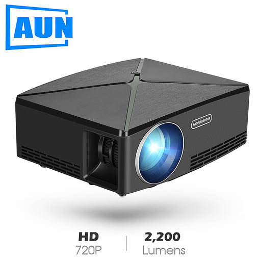 Projector C80 UP, 1280x720 Resolution, Android WIFI Proyector, LED Portable HD Beamer for Home Cinema, Optional C80