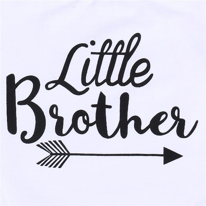 Big Sister Little Brother Family Matching Toddler Kids Baby Boys Little Brother Romper Girls Big Sister Tshirt