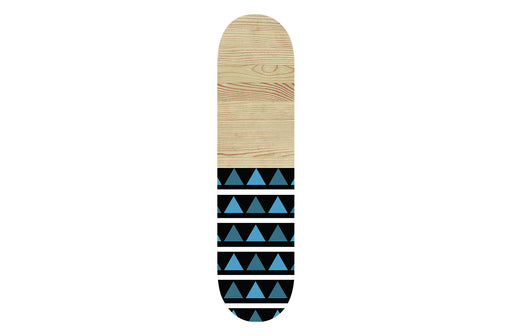 Wooden Blue Aztec Skateboard