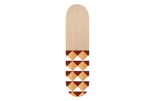 Wooden Orange Aztec Skateboard