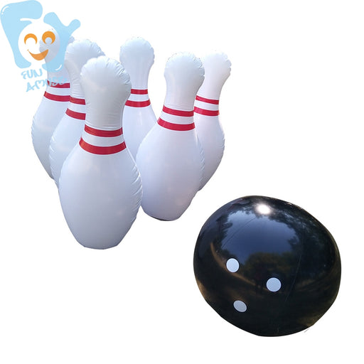New Outdoor Sports Game 39inch 1m Inflatable Bowling Pins Set Game Large 6pcs Inflatable Pins 1pc Black Ball