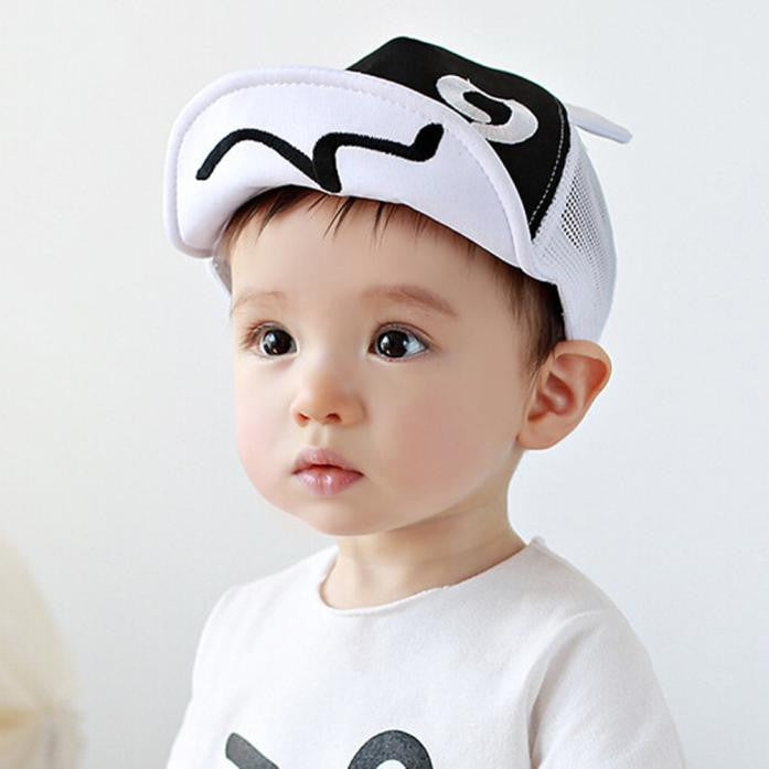 Children Hat Summer Mesh Soft Brim Flanging Sun hat Baseball Cap